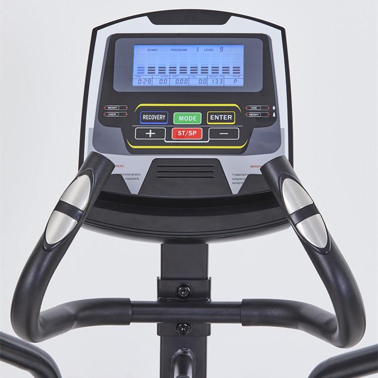 Elliptical trainer bike console